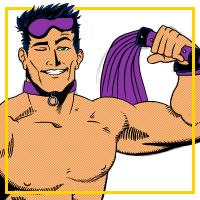 Purple Leather - Kapow